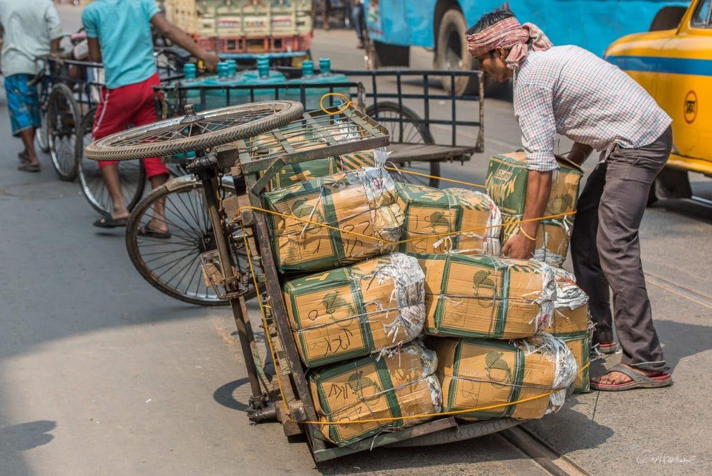 Près de Mechua Market Calcutta Inde