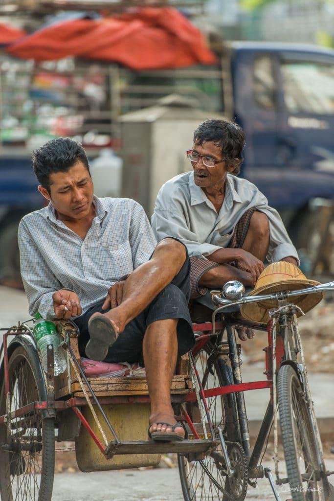 Taxi vélo Yangon