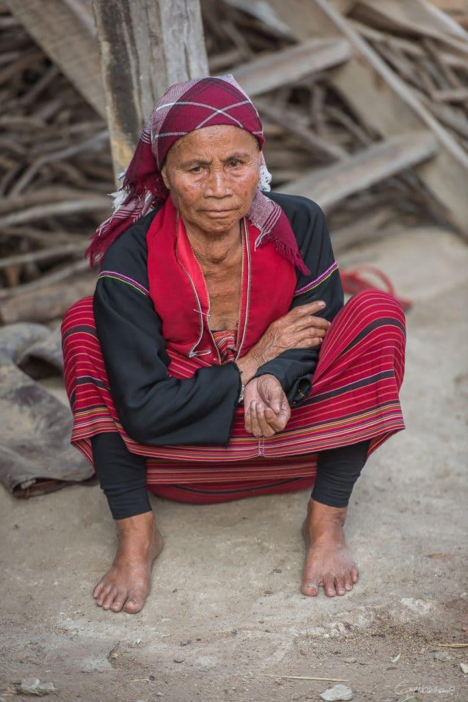 Village ethnie Palaung - Région de Kentung - Etat Shan