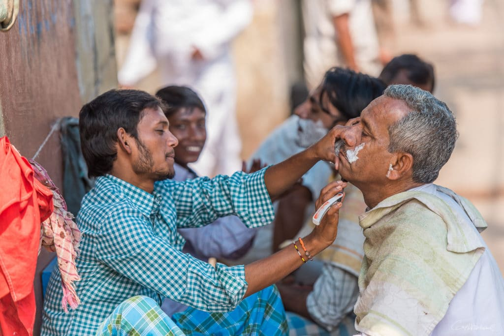 Barbier de rue - Calcutta Inde